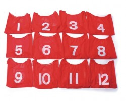 Youth Numbered Mesh Pinnies (dozen) Red (W9660001)