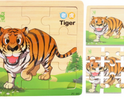 Colorful Wooden Puzzle Cartoon Animal (PT-005)