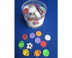 Foam Sports Balls with Adhesive 12 Lb Bucket Toys AC870