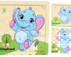 Colorful Wooden Puzzle Cartoon Animal (PT-007)