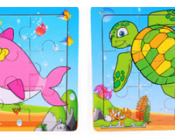 Color Wood 9 Pieces of Cartoon Puzzle (LA-735 LA-736)