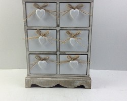 1702025 white heart cabinet with 6 lattice