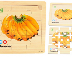 Color Wood Puzzles of Bannana (PT-009)