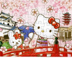 Colorized Paper Puzzle of Hello Kitty2