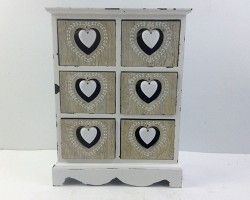 1702024 heart cabinet with6 lattice