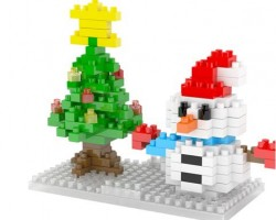 Mini Block--Christmas Snowman (2263)
