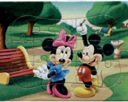 Colorized Paper Puzzle of Two Mice (YM012)