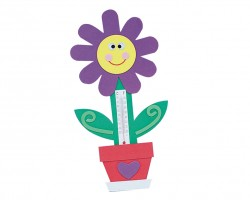 Flower Thermometer Magnet Craft Kit (makes 12) (CE4013)