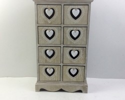 1702021 heart cabinet with 8 lattice