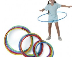 """Economy Candy-Striped Hoops (pack of 12) 35"""" Diameter W10322"""
