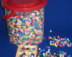 Pony Bead Assorted Colors with Bucket (BE1277)