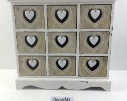 1702030A white heart cabinet with 9 lattice white bottom