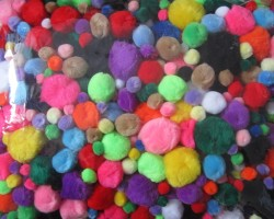 POM Poms 1-Lb. - Assorted Size and Colors (TR185)