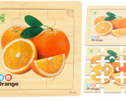 Color Wood Puzzle of Orange (PT-011)