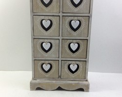 1702027 heart cabinet with 8 lattice