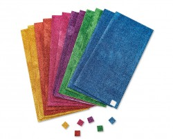Adhesive Glitter Foam Squares (pack of 1728) (AC973)