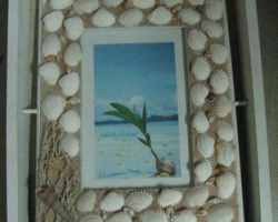 A117 Natural Shell Wooden Photo Frame