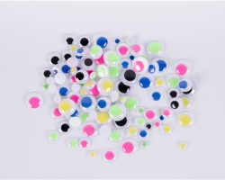 Assorted Color Paste-On Wiggly Eyes