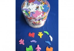 Foam Vechile Shapes with Adhesive Toys AC936