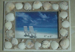 A114 Natural Shell Photo Frame by Wooden