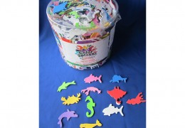 Foam Sealife Shps with Adhesive Toy AC754