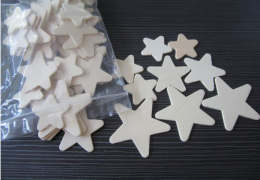 TTW007 Unfinished Wooden Stars Pk130