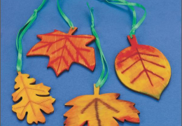 GP2194 Wood Leaves Craft Kit (makes 48)