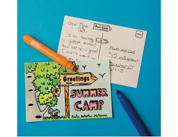Velvet Art Summer Camp Postcard(PS1396)